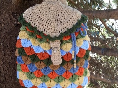 #Crochet Crocodile Stitch Back Pack #TUTORIAL #backpack #bookbag