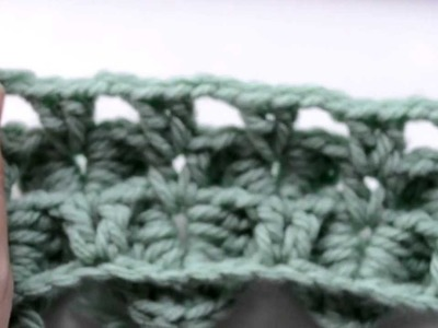 Crochet Lessons - How to work the Crocodile Stitch - Part 5