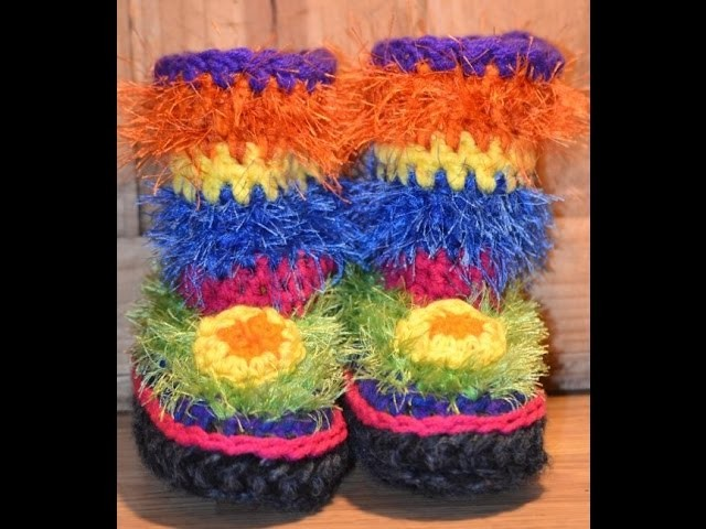 Crochet Slipper Boots Slide Show of My Creations