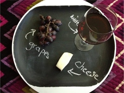 DIY Christmas Gifts: Chalkboard Serving Tray & Mini Chalkboard (Day 25)