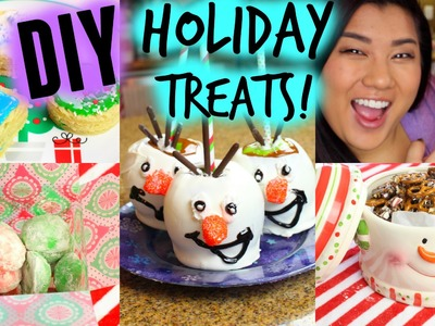 DIY HOLIDAY TREATS!! Olaf Caramel Apples, Cookies, & More!