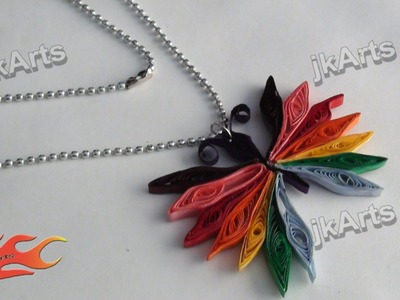 DIY How to make Paper Quilling Butterfly Pendent - JK Arts  296