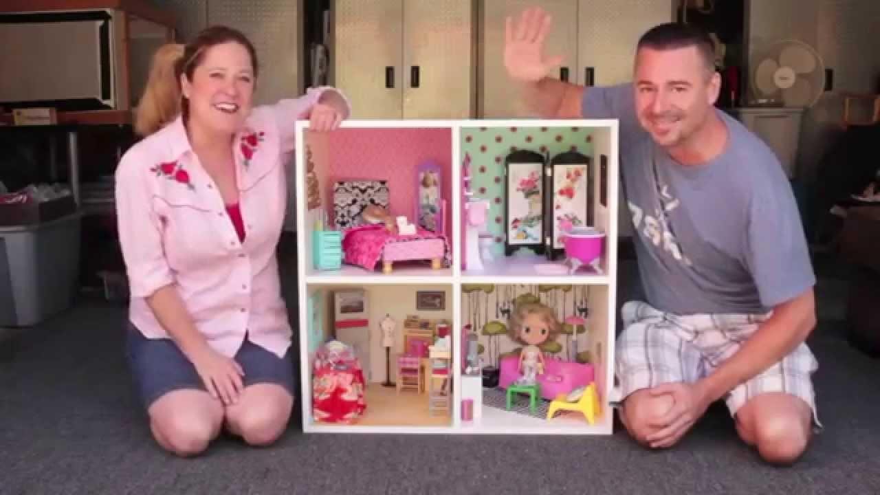 DIY Modern Bookshelf Dollhouse with Cathie & Steve