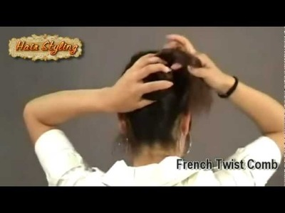 Easy Hair DIY with a French Twist Comb 01
