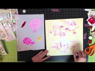 Evalicious | Scrapbook Tutorial - Creating a background with paint