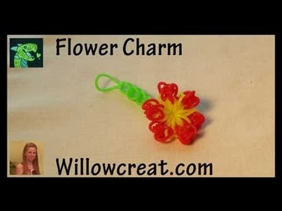 Flower Charm by hook - Rainbow loom Upgrade hook - Crochet hook