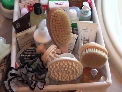 How I organize my Bathroom. body products
