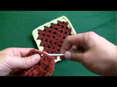 How To Change Color In A Granny Square - RH