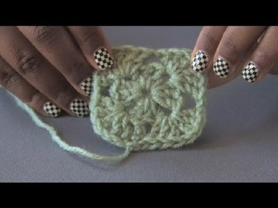 How to Crochet a Left-Handed Granny Square : Crochet Projects
