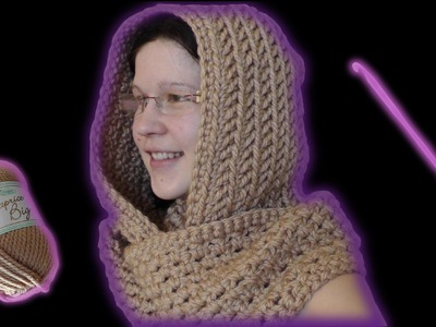 How to crochet a scoodie hooded scarf - Woolpedia