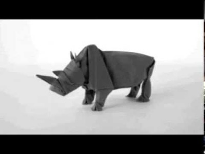 How to make an Origami Rhino —— Origami Rhinoceros (Rhinoceros)