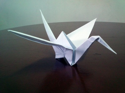 How to make classic origami crane!