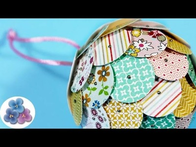How to make Paper Balls for your Tree Christmas Decorations DIY Christmas Crafts Mathie