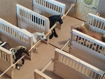 How to make Schleich. Breyer Horse Stall Dividers, for a Box Barn.