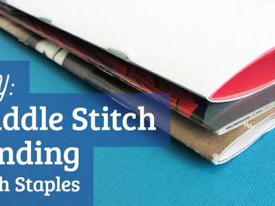 How to Saddle Stitch with Staples : Bookbinding Tutorial