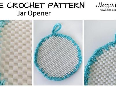 Jar Gripper Free Crochet Pattern - Right Handed