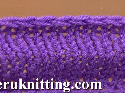 Knit Decrease Bind-off Cast-off By Purling Two Together Tutorial 7 Method 2 of 12 Finishing Off