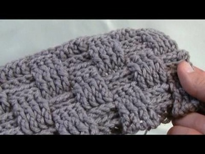 Left Hand: How To Crochet A Basket Weave Stitch