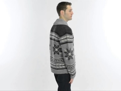 Neve Glockner Hand-Knit Cardigan Sweater - Lambswool (For Men)