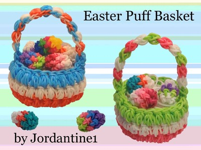 New Easter Puff Basket - Rubber Band Crochet - Hook Only -Rainbow Loom