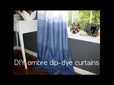 OMBRE DIP DYE - DIY indigo curtains