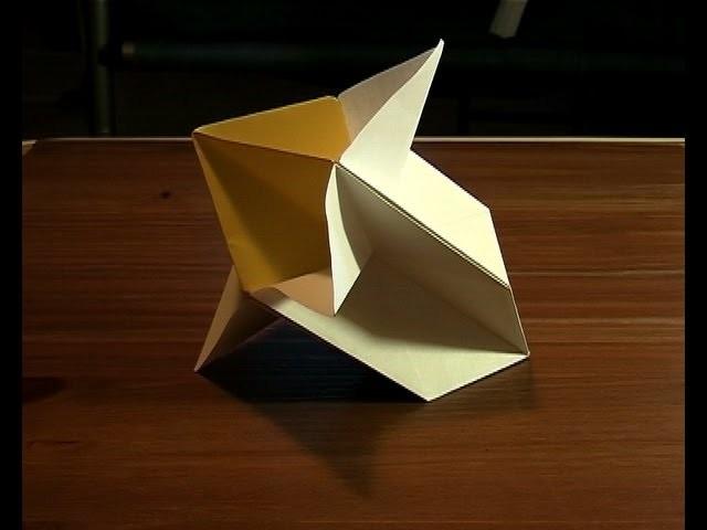 Origami fleur flower paper.mpg