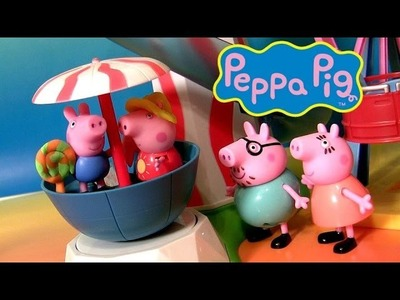 Peppa Pig Going to Theme Park in her New Car Make Play Doh Cotton Candy Lollipop Nickelodeon