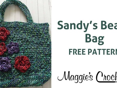 Raffia Beach Bag Free Crochet Pattern - Right Handed