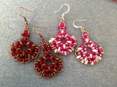 Rondelle superduo earrings - Intermediate Tutorial