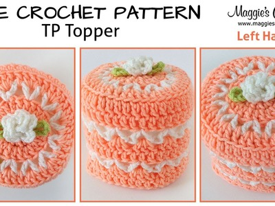 V-Stitch Toilet Paper Topper Free Crochet Pattern - Left Handed