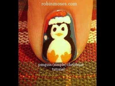 1 Nail Art Tutorial | DIY Easy Christmas Nail Design | Penguin Nails Tutorial