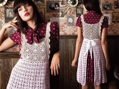 #18 Apron Dress, Vogue Knitting Crochet 2013 Special Collector's Issue