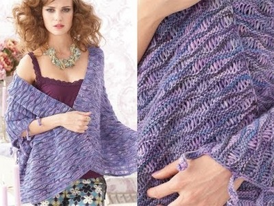 #27 Wave Stitch Wrap, Vogue Knitting Early Fall 2010