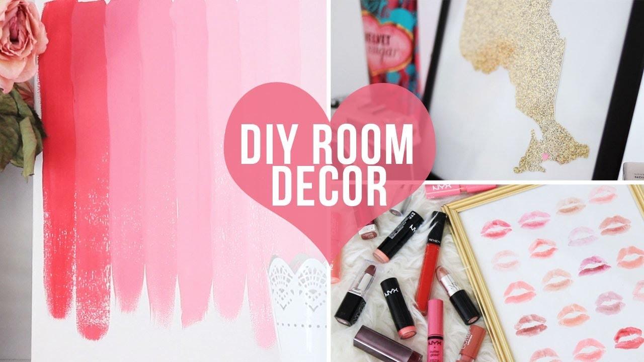 ♡ 3 Easy Room Decor.Wall Art DIYs♡ | LaurDIY