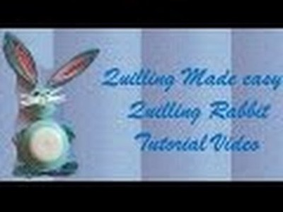 Art & Craft  How to make beautiful rabbit using Paper Art Quilling  Quilling Made Easy
