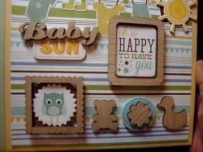 Baby boy mini album for Liz - scrapbooking mini album
