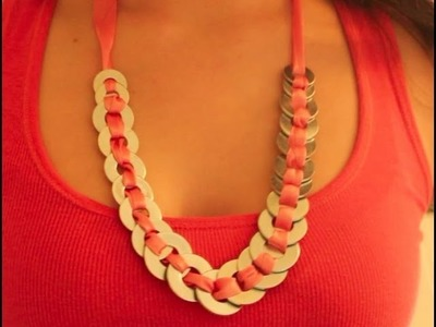 DIY: 1940's Inspired Washers & Ribbon Necklace