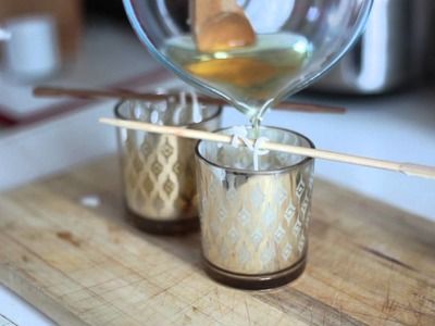 DIY Beeswax Candles. Bougie en Cire d'abeille