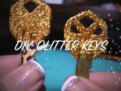 DIY: Glitter Keys!