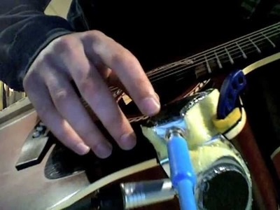 DIY guitar mounted piezo midi drum triggers