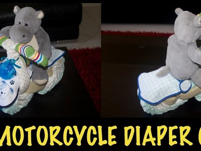 DIY : MOTORCYCLE DIAPER CAKE (HOW TO MAKE)