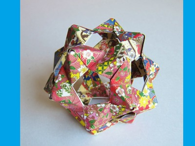 DIY Origami Bucky Ball - Dodecahedron (30 Pentagon Hexagon Z Units - PHIZZ) - Origami Flower Ball