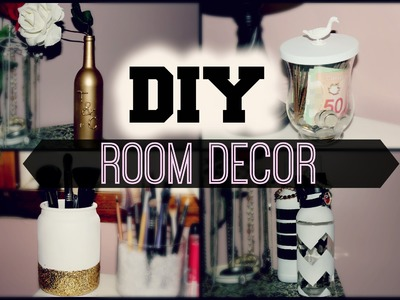 DIY Room Decor {Reuse Candle Jars + Bottles}
