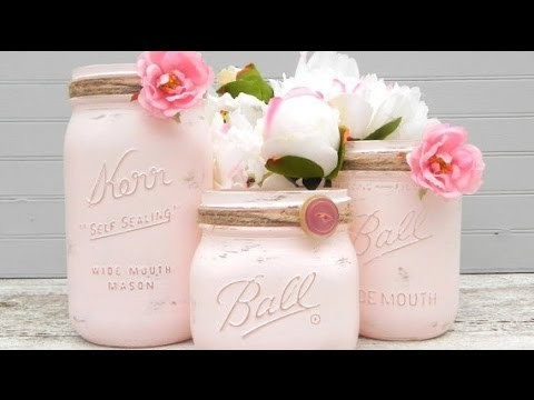 DIY Shabby Chic Mason Jar :)