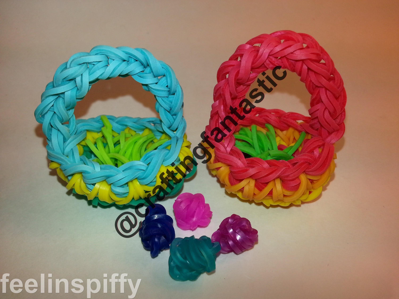 (Easter) Basket Tutorial by feelinspiffy (Rainbow Loom)