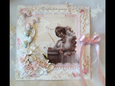 Girly and feminine card with Wild Orchid Crafts beautiful flowers