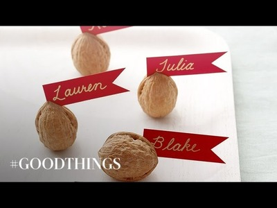 Good Things: Three Memorable Crafts for the Thanksgiving Table - Martha Stewart