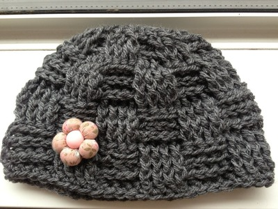 How to crochet a Basket hat