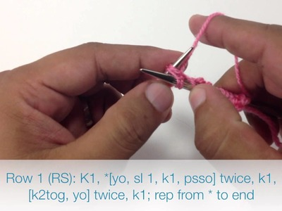 How to Knit the Arrowhead Lace Stitch (English Style)