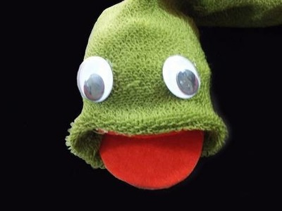 How to make a Snake sock puppet - EP